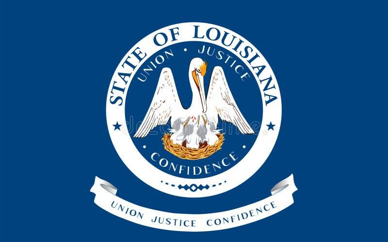 Vlag van Louisiane, de V.S. royalty-vrije stock foto's