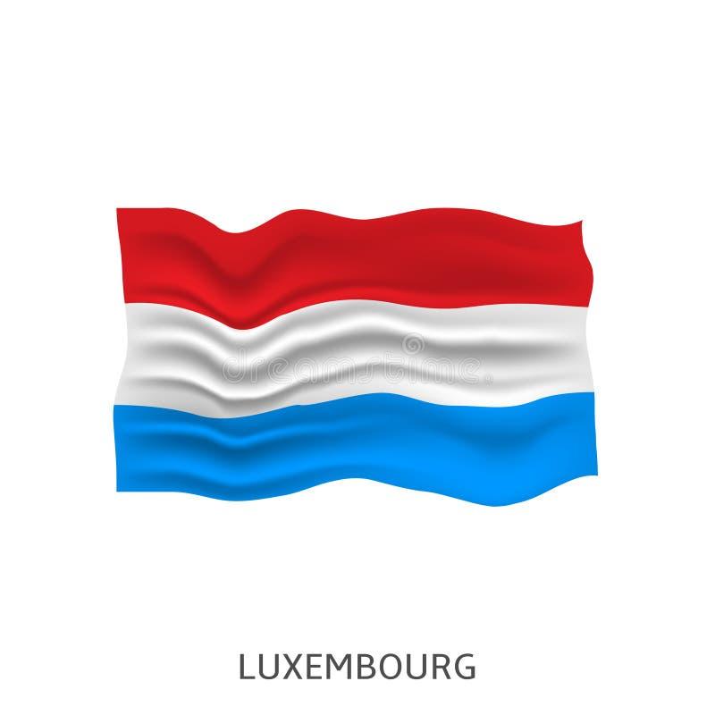 Vlag van Luxemburg vector illustratie