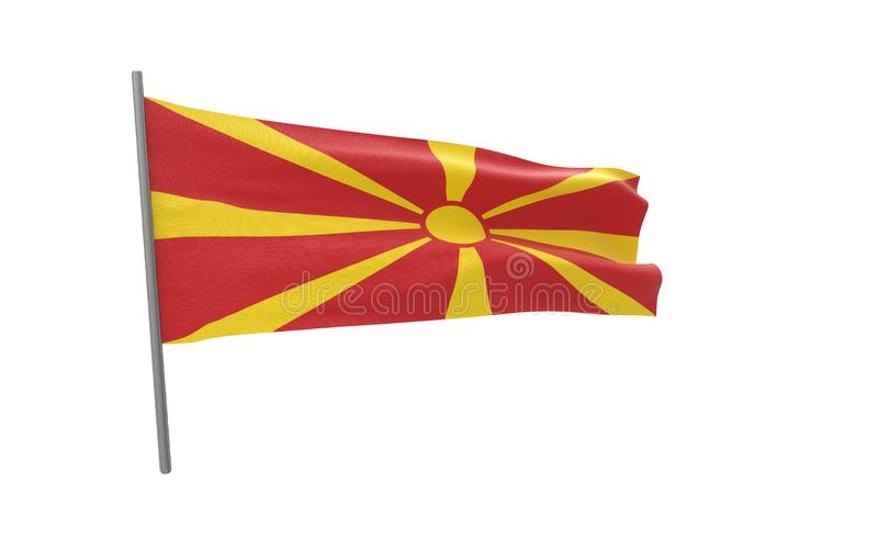 Vlag van Macedoni? vector illustratie