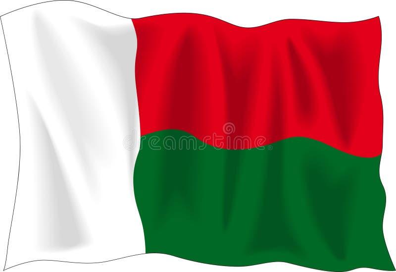 Vlag van Madagascar stock illustratie