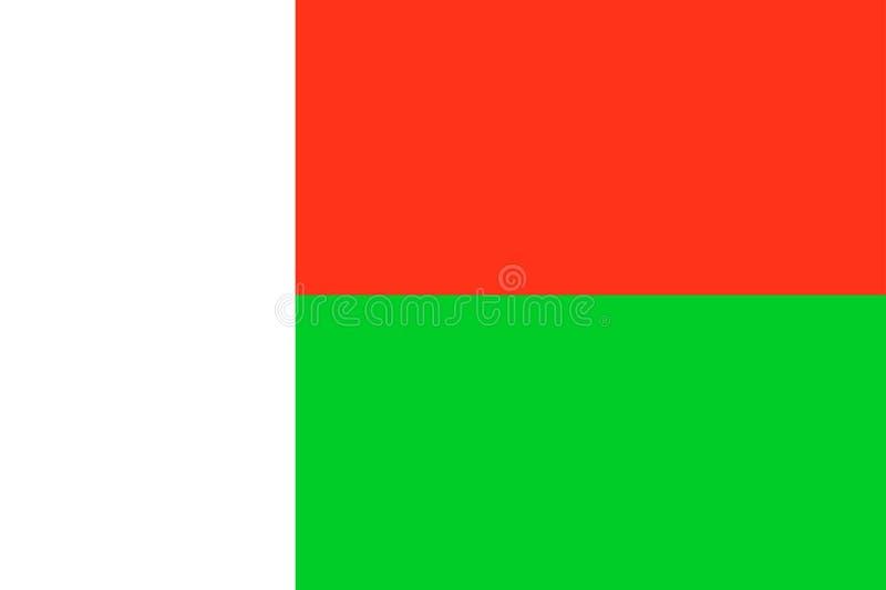 Vlag van Madagascar royalty-vrije illustratie