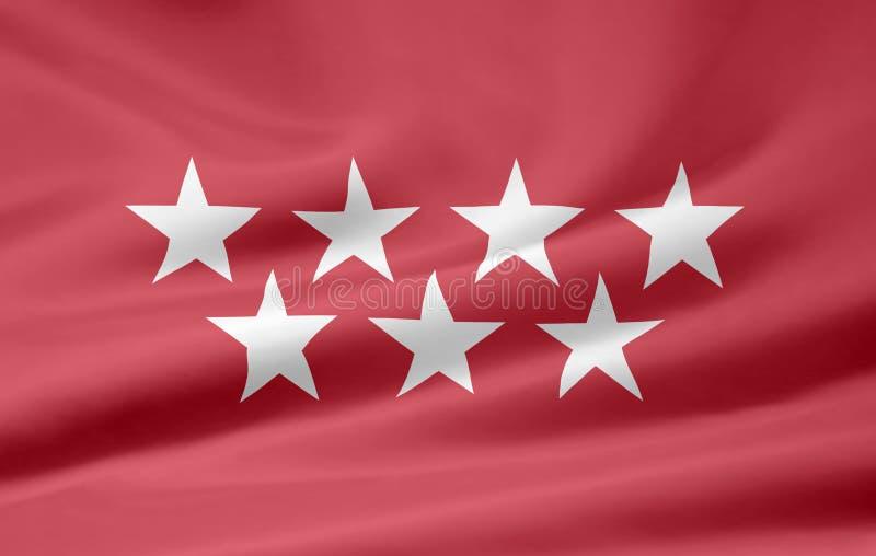 Vlag van Madrid - Spanje royalty-vrije illustratie