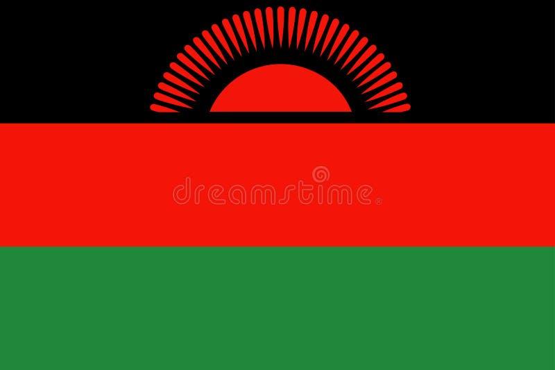 Vlag van Malawi stock illustratie