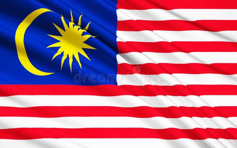 Vlag van Maleisië stock illustratie