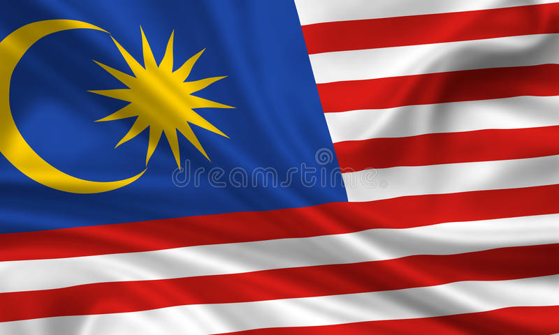 Vlag van Maleisië royalty-vrije stock afbeelding