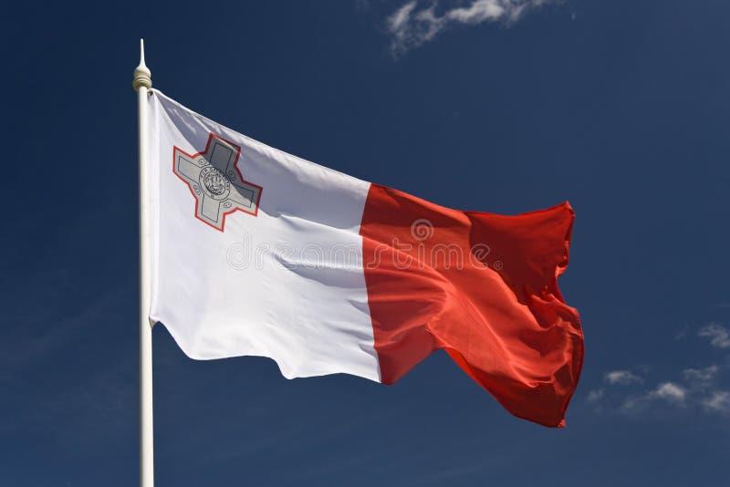 Vlag van Malta stock afbeeldingen