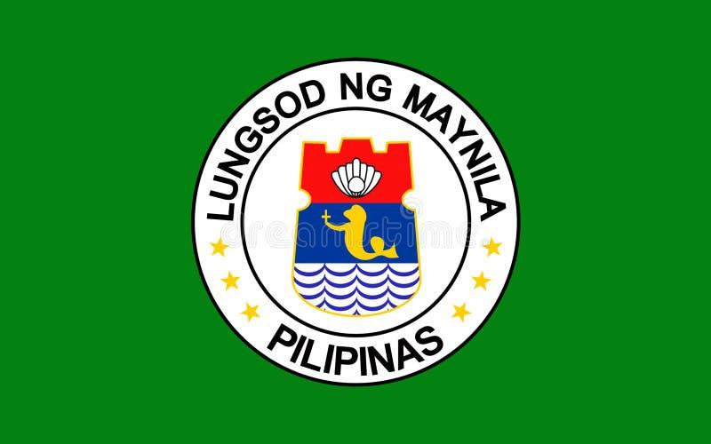 Vlag van Manilla, Filippijnen royalty-vrije illustratie