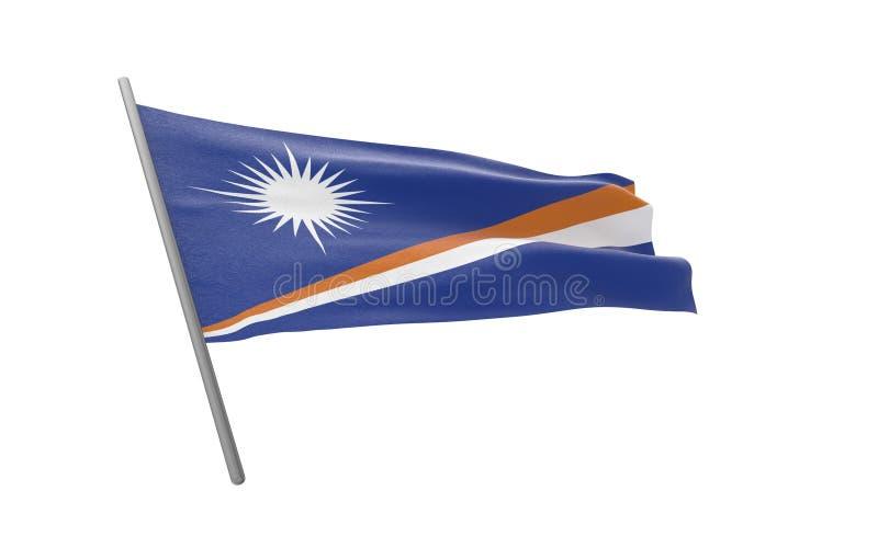 Vlag van Marshall Islands royalty-vrije illustratie