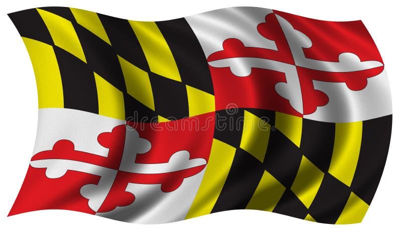 Vlag van Maryland stock illustratie