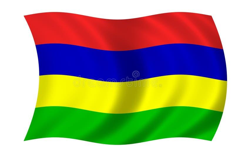 vlag van Mauritius royalty-vrije illustratie