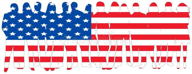 Vlag van mensen vector illustratie