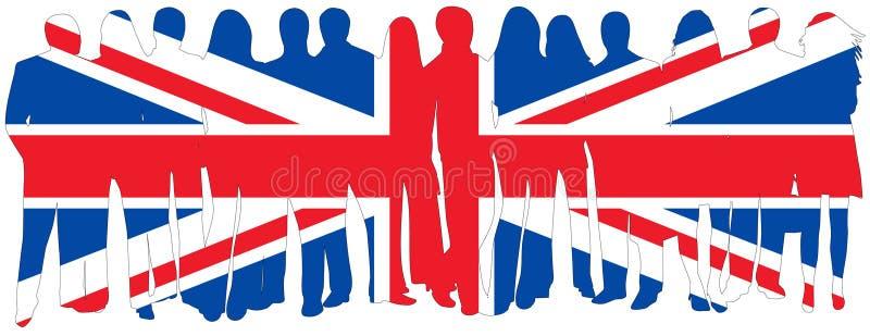 Vlag van mensen stock illustratie