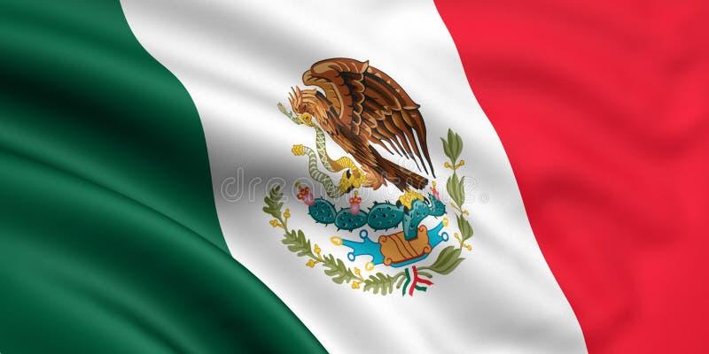 Vlag van Mexico vector illustratie