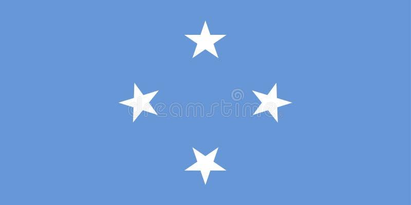 Vlag van Micronesië stock illustratie