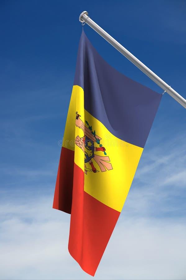 Vlag van Moldova vector illustratie