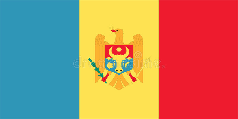 Vlag van Moldova royalty-vrije illustratie