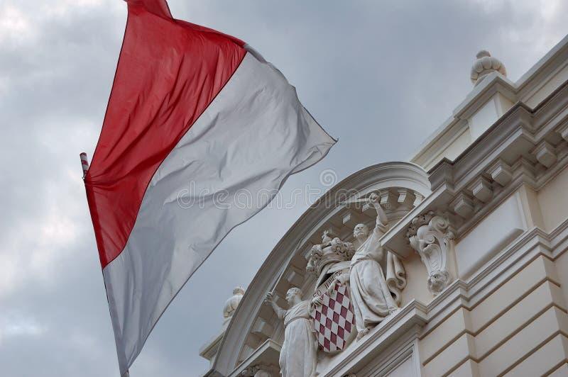 Vlag van Monaco. royalty-vrije stock fotografie