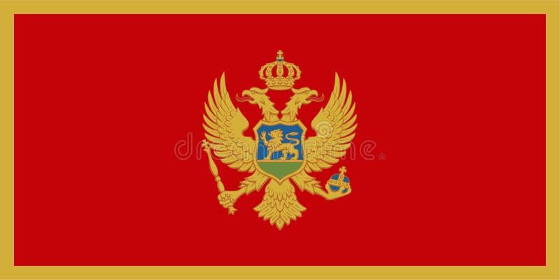 Vlag van Montenegro vector illustratie