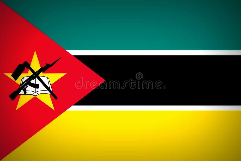 Vlag van Mozambique stock illustratie