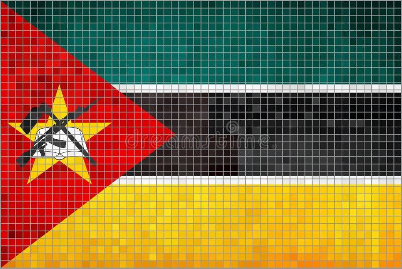 Vlag van Mozambique royalty-vrije illustratie