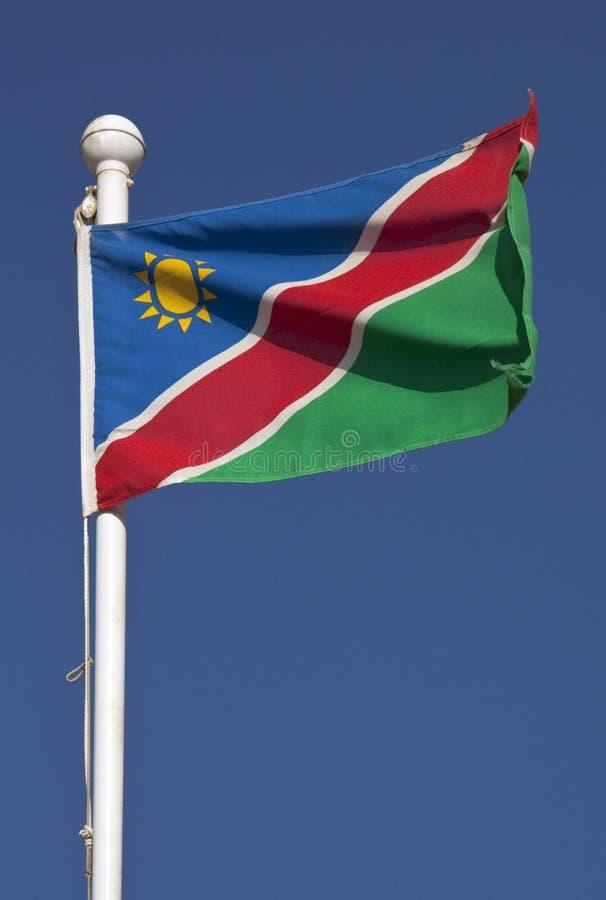 Vlag van Namibië royalty-vrije stock foto