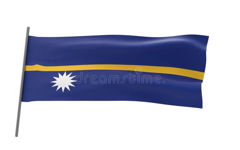 Vlag van Nauru vector illustratie
