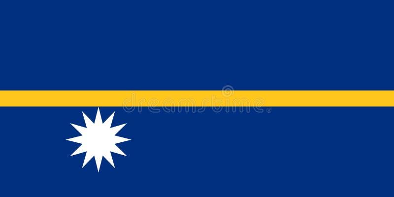 Vlag van Nauru royalty-vrije illustratie