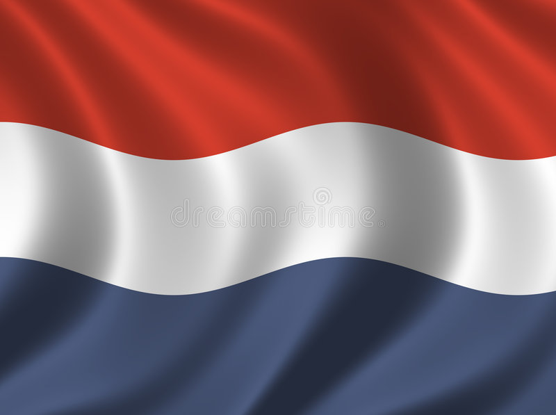 Vlag van Nederland royalty-vrije illustratie