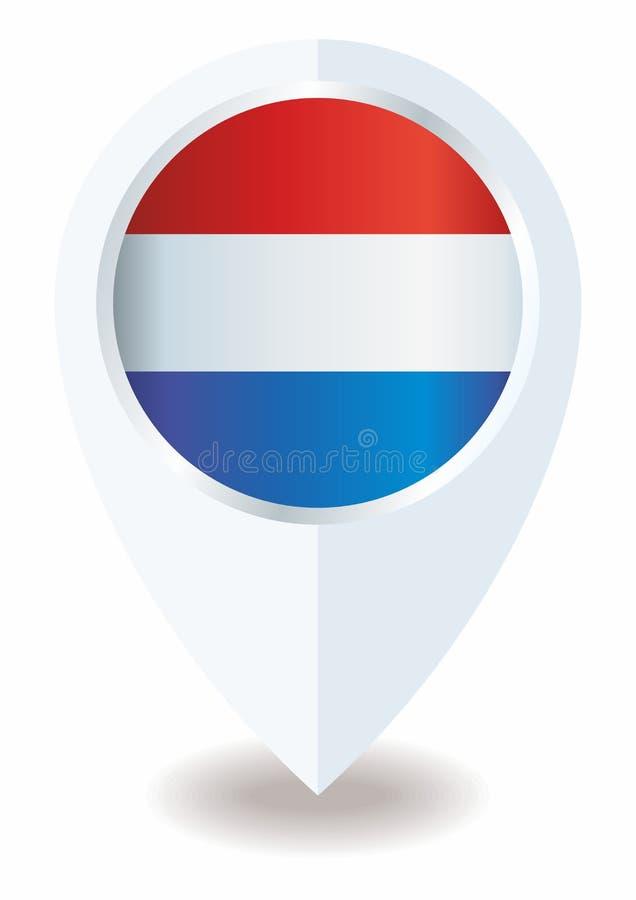 Vlag van Nederland Koninkrijk van Nederland Malplaatje voor toekenningsontwerp, een officieel document met de vlag van Nederland royalty-vrije illustratie