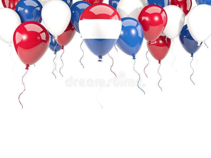 Vlag van Nederland op ballons stock illustratie
