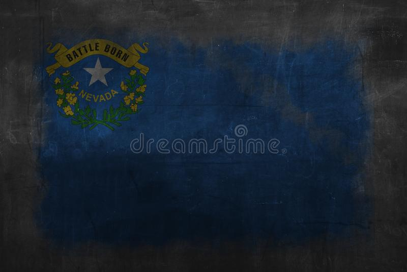 Vlag van Nevada royalty-vrije illustratie