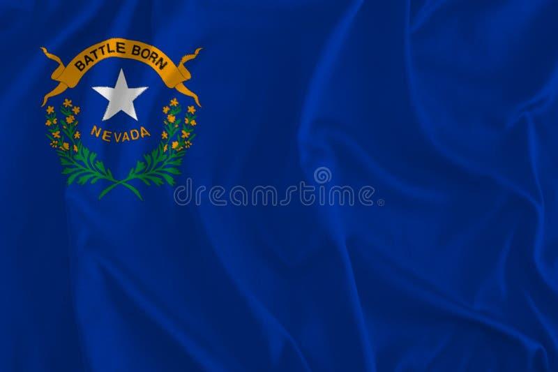 Vlag van Nevada Background, Zilveren Staat royalty-vrije illustratie
