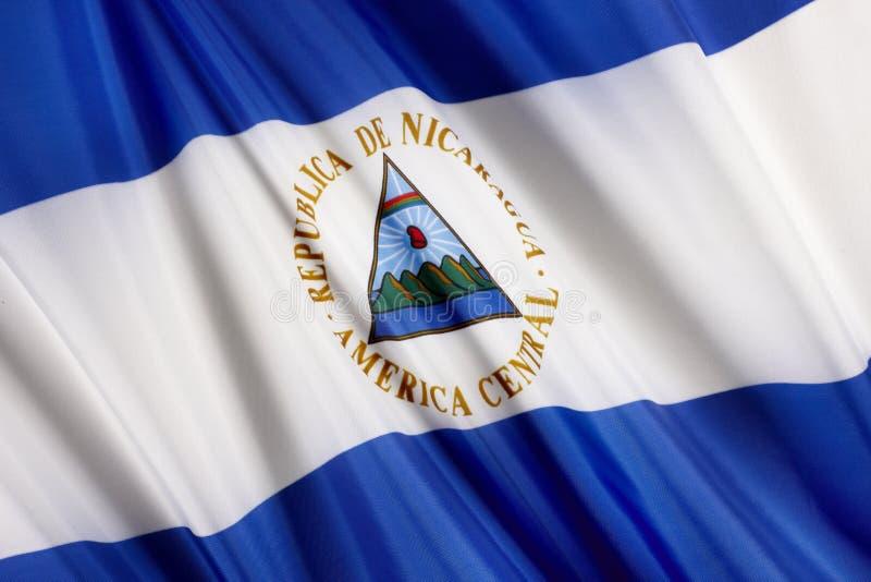 Vlag van Nicaragua stock afbeeldingen