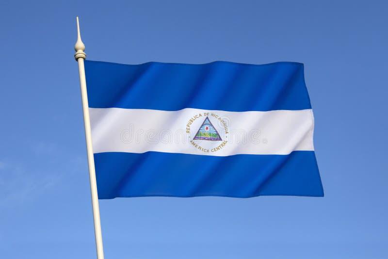 Vlag van Nicaragua stock foto's