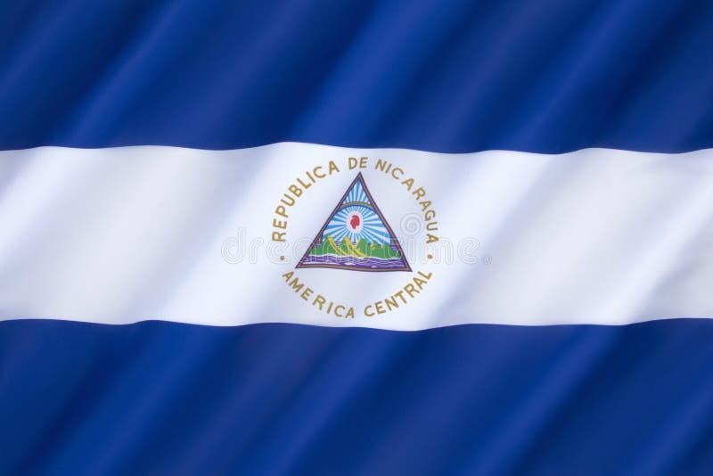 Vlag van Nicaragua royalty-vrije stock afbeeldingen