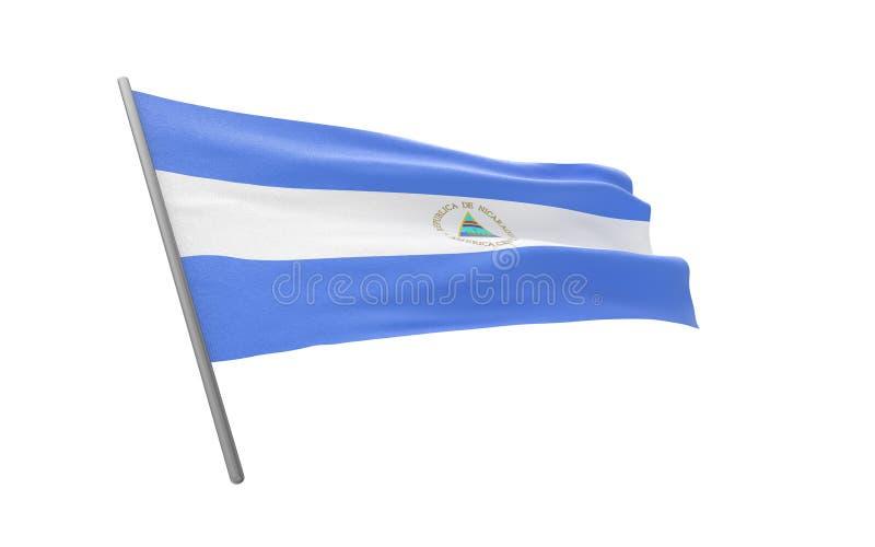 Vlag van Nicaragua vector illustratie