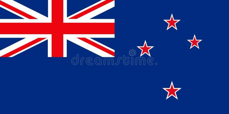Vlag van Nieuw Zeeland stock illustratie