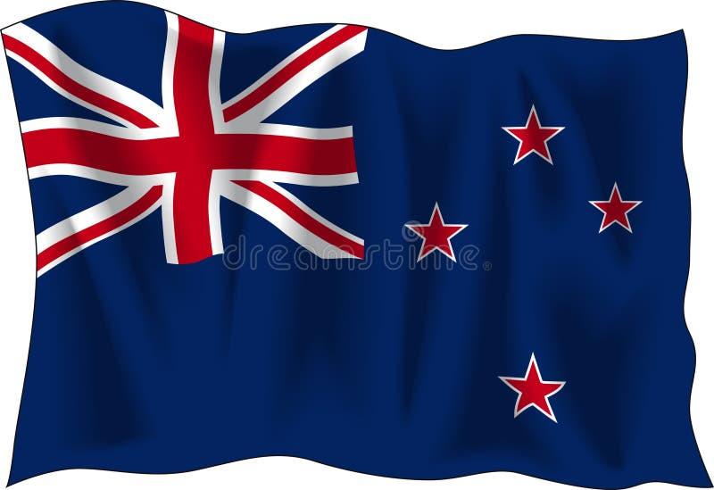 Vlag van Nieuw Zeeland royalty-vrije illustratie
