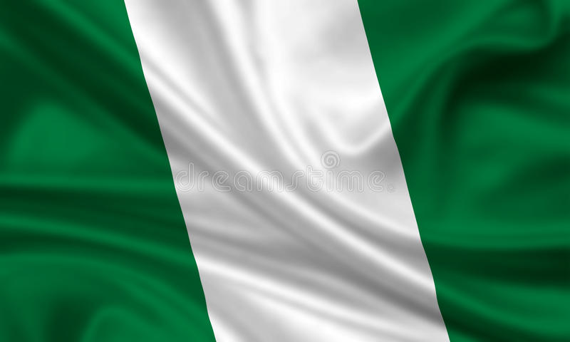 Vlag van Nigeria stock foto's