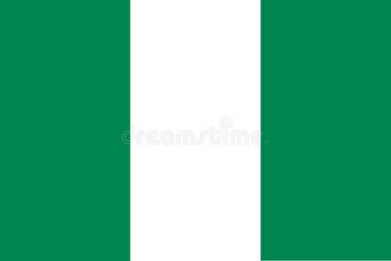 Vlag van Nigeria stock illustratie