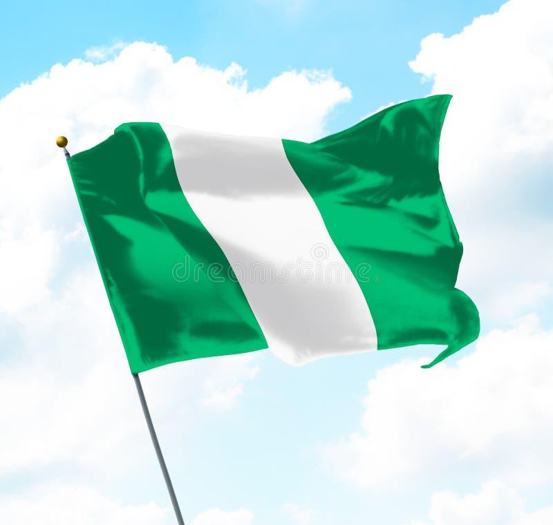 Vlag van Nigeria vector illustratie