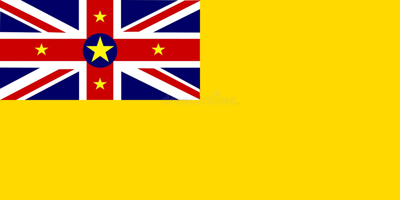 Vlag van Niue stock illustratie