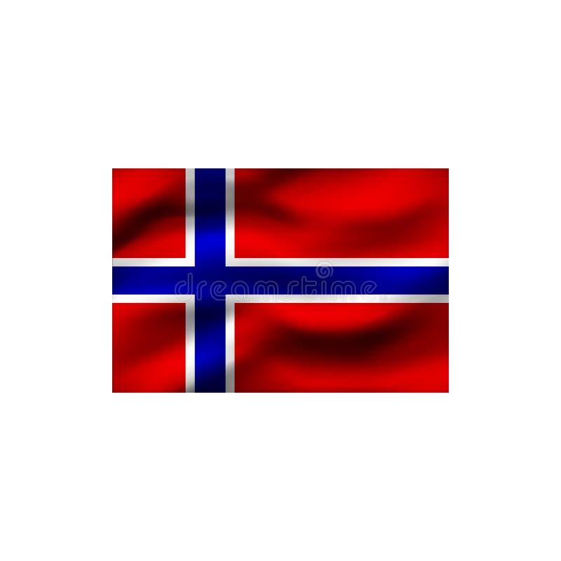 Vlag van Noorwegen royalty-vrije illustratie