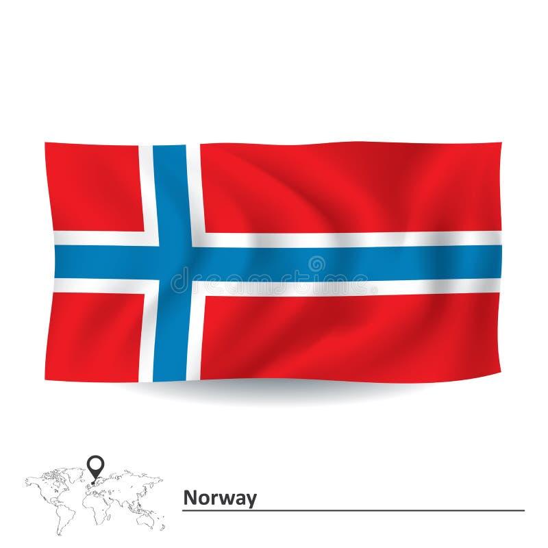 Vlag van Noorwegen vector illustratie
