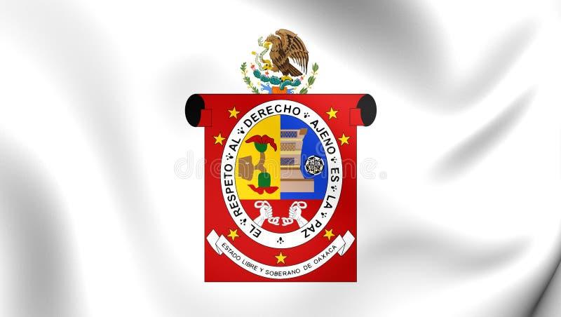 Vlag van Oaxaca-Staat, Mexico royalty-vrije illustratie