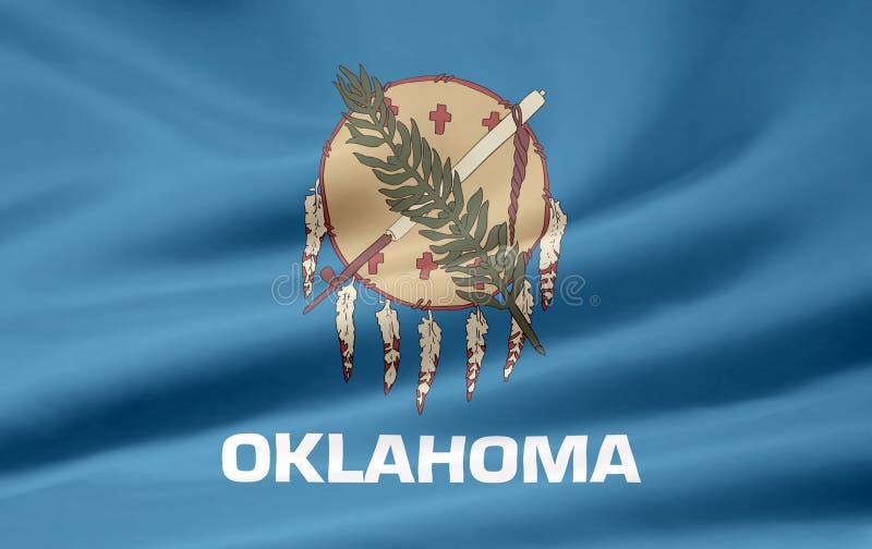 Vlag van Oklahoma stock illustratie
