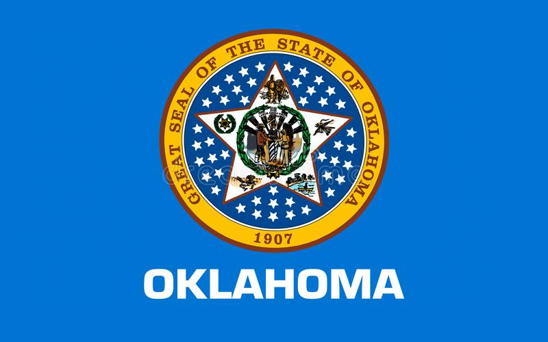 Vlag van Oklahoma, de V royalty-vrije stock fotografie