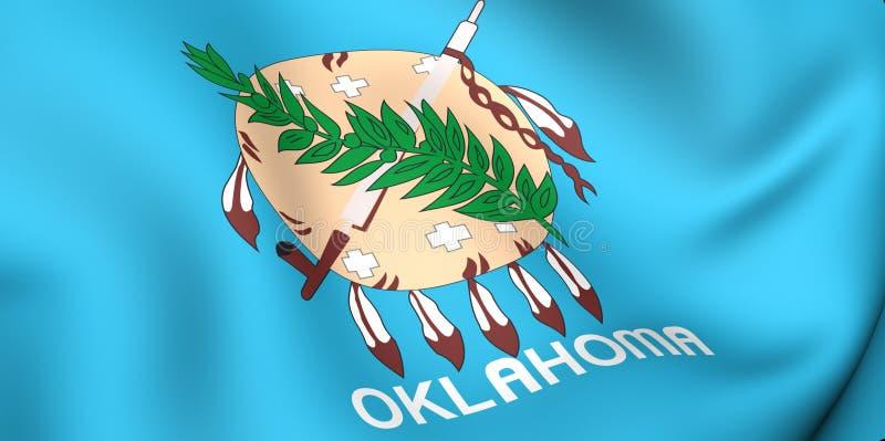 Vlag van Oklahoma, de V.S. royalty-vrije illustratie