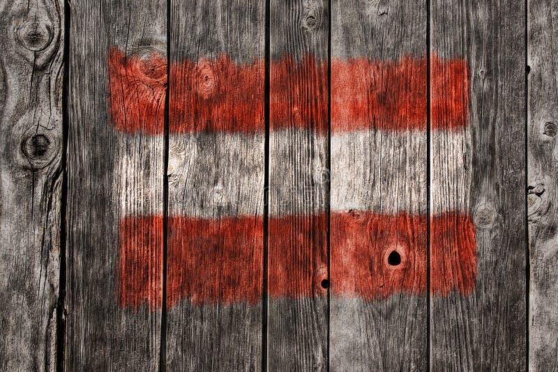 Vlag van Oostenrijk stock fotografie