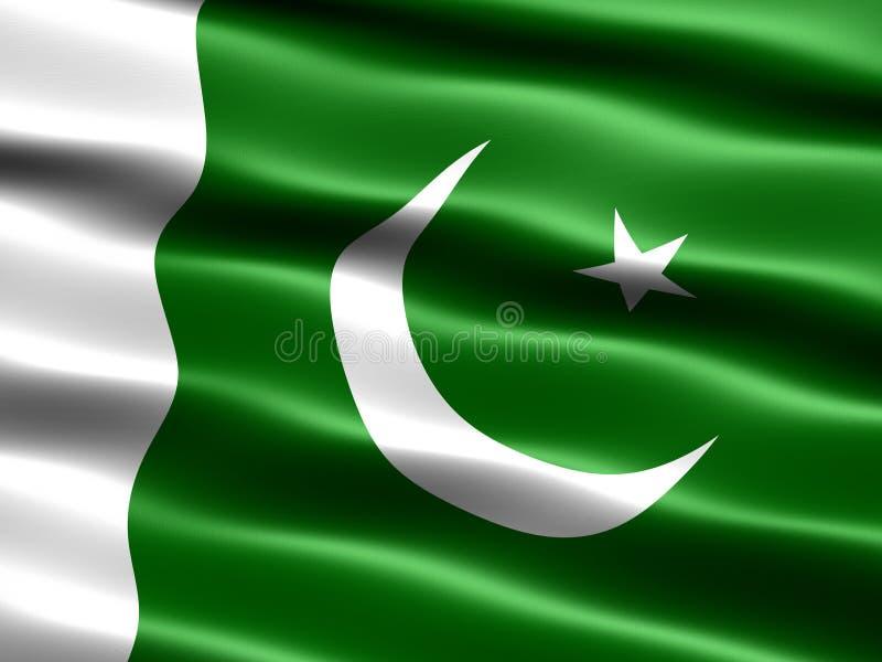 Vlag van Pakistan vector illustratie